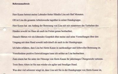 HUNDE-TAGESSTÄTTE FÜR LISA