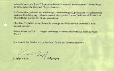 LIEBEVOLLE HUNDE-PFLEGE FÜR FILIPPO